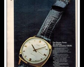 "Vintage Print Ad June 1968 : Timex - The Electric Timex Watch Wall Art Decor 8.5"" x 11"" Print Advertisement"
