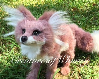 Little Dusty Plum Fox (poseableartdoll)