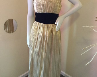 Gold Lame  Gown