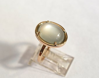 14kt Yellow Gold Moonstone Ring