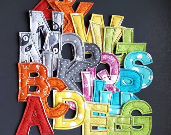 CUSTOM Magnetic Alphabet Set (plush letters) // Baby Toddler Gift
