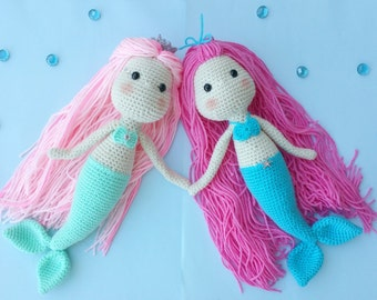 mermaid crochet pattern, mermaid doll, crochet mermaid, amigurumi mermaid