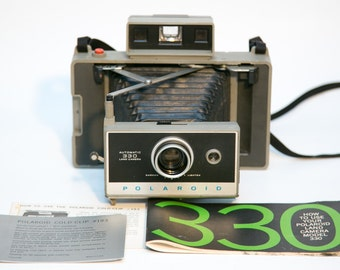 Polaroid Land Camera 330 - Film Tested, Includes Instructions & NEW Battery #P12