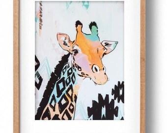 Okay Luna 'Giraffe' A3 Print