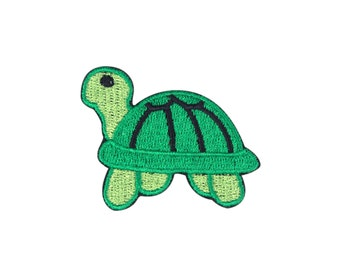 Turtle Emoji Embroidered Iron On Patch - FREE SHIPPING