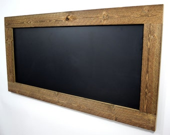 Large rustic framed chalkboard - Reclaimed wood chalkboard - Eco friendly - Wall hanging chalkboard - Rustic signs