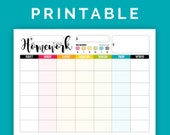 Homework Chart - Printable PDF