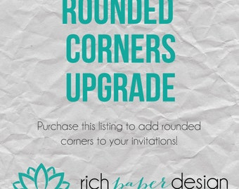 Rounded Corners Upgrade for Printed Invitation Packages