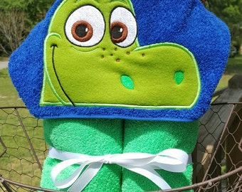The Good Dinosaur Arlo Inspired hooded Towel with FREE Embroidered Name