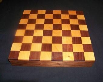Handmade  Walnut/Cherry Chessboard/Checkerboard