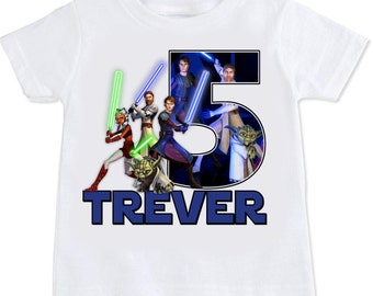 Star Wars Clone Wars Personalized birthday Tshirt Shirt