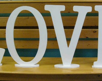 Love Stand Wood Letters 19""