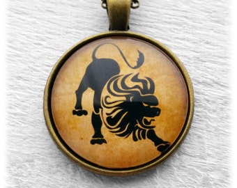 "Zodiac ""Leo"" Pendant and Necklace"