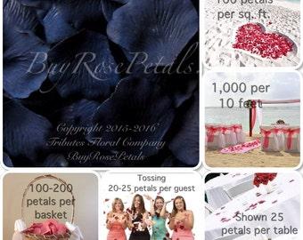 Navy Blue Rose Petals Value Pack