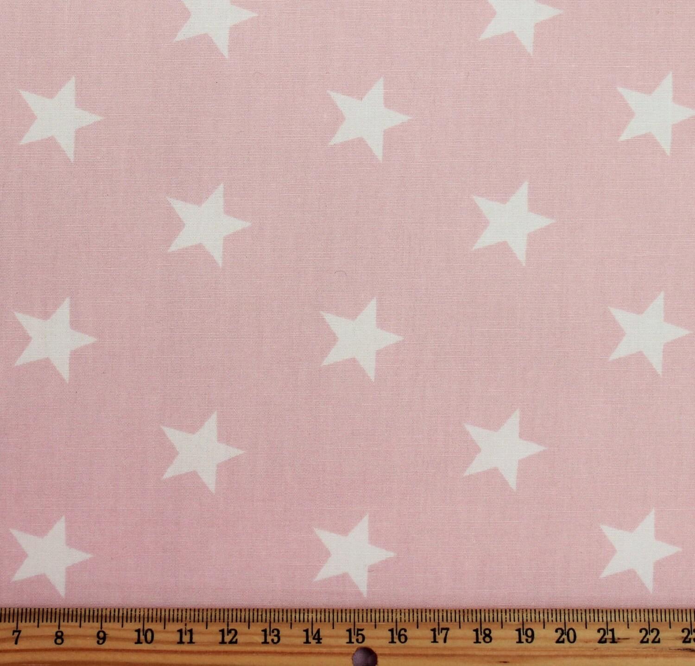 White stars on pink cotton poplin fabric star fabric for Star fabric australia