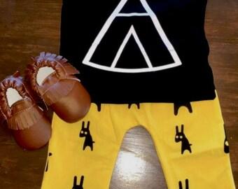 Teepee shirt and fashion pant SET
