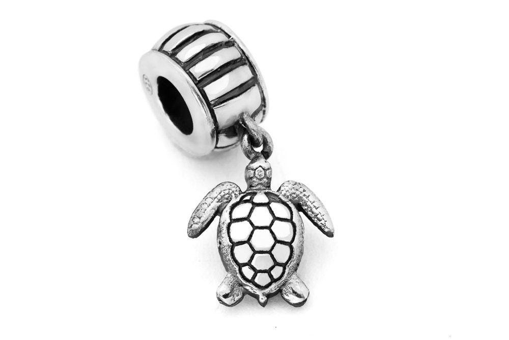 Silver Sea Turtle Charm 029 Fits Pandora Charm Bracelets