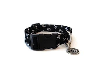 Designer dog collar,dog , skull , collar,adjustable collar,fier-pet