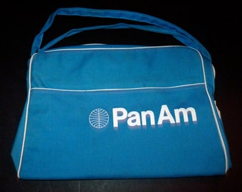 Vtg Pan Am Airlines Fly Girls Stewardess Flight Attendant vintage Bag