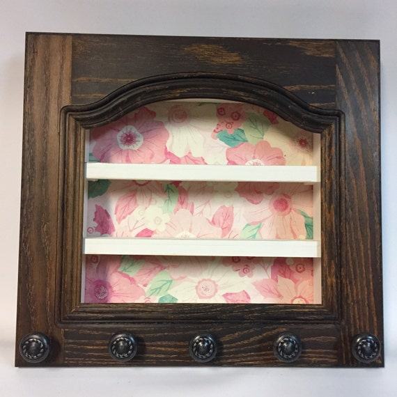 Rustic Shelf Nail Polish Shelf Shabby Chic Home Decor Home