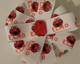 Elmo hair bow