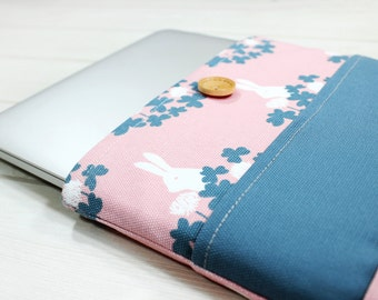 Macbook Pro Case, Macbook case 15 inch, Pro Retina sleeve, 15 inch laptop case, Lenovo Flex 15 case, Macbook sleeve, rabbit print, gift idea