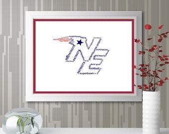"""Personalized """"Sports Logo"""" Wall Art"""