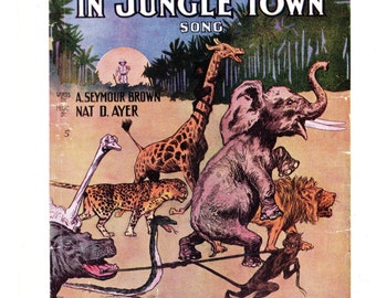 Moving Day in Jungle Town from the book Memory Lane