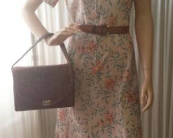 1970s Retro Floral Summer Dress