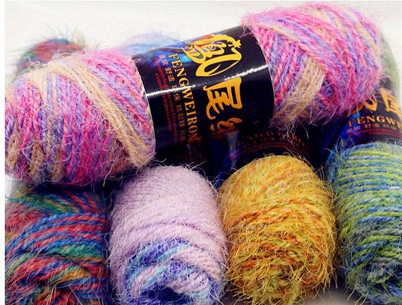 soft knit yarn colorful wool yarn for scarf hat