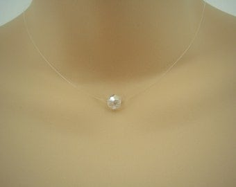 Cristal ~ Floating Crystal Illusion Necklace - choice of size and shape
