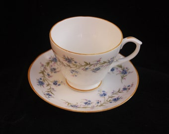 A Vintage Duchess Tea Cup and Saucer Duo in the dainty Tranquility pattern (Two available)