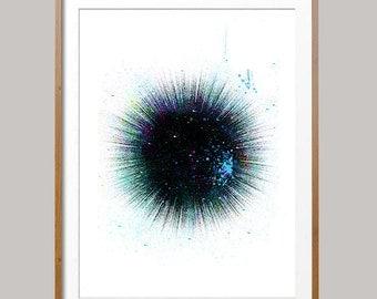 Sea urchin Watercolor Print Sea urchin poster urchin sealife print ocean life sea urchin illustration, wall art sea hedgehog [N393]
