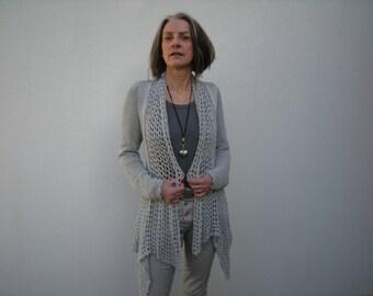 "Pattern, PDF, Knitting, Crochet, Jacket, Strick-/Häkelanleitung - Jacke ""Marlene"""