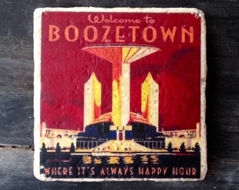 SAMPLE SALE: Welcome to Boozetown Tile