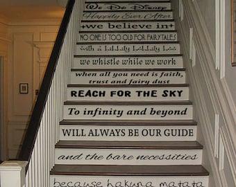 We do disney stair vinyl stickers