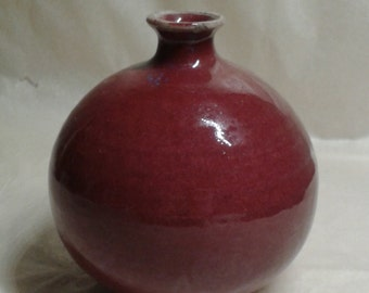 Stunning Chinese flambe / flambeware rich red glazed jar