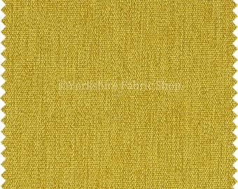 Soft Like Wool Texture Chenille Upholstery Fabric Yellow Plain Colour Ideal For New Furnishing Curtains Sofas Interior - Sold By The Metre