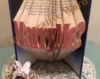 Marry Me Book Folding Pattern
