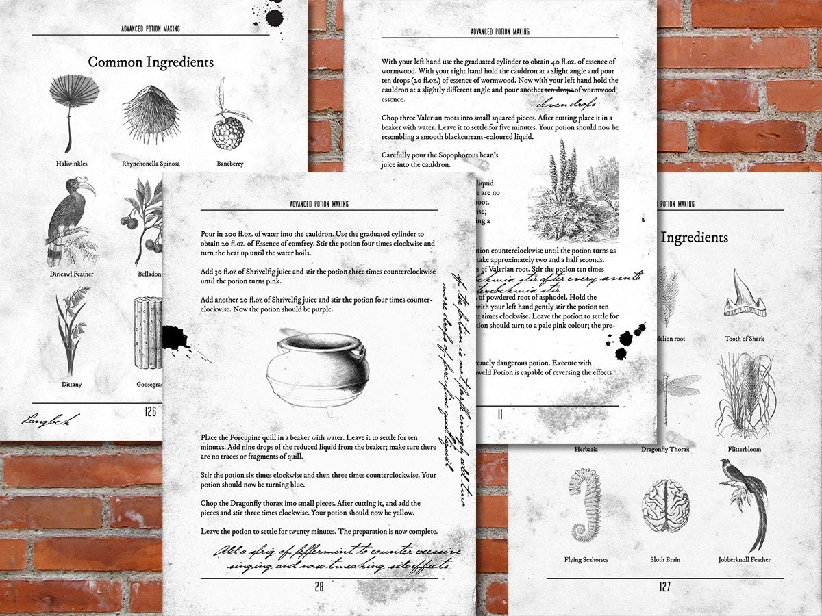 It's just a picture of Fabulous Advanced Potion Making Printable