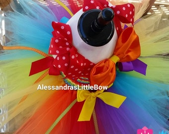 Deluxe Clowning Around tutu dress, clown costume, circus theme birthday outfit, rainbow tutu dress, circus clown tutus, circus clown costume