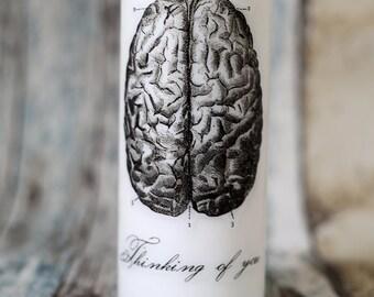 Anatomical Brain pillar candle