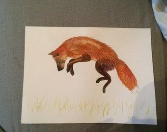 Fox watercolor