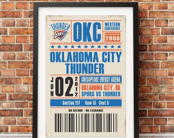 Oklahoma City Thunder Ticket Poster