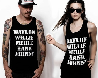 Waylon Jennings Willie Nelson Merle Haggard Hank Williams Johnny Cash Tribute Tank