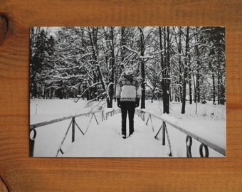 Christmas Postcard Typical Creativity Black and White NEW Ready to ship
