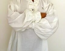 Pirate shirt,Men's Pirate Shirt,Renaissance Shirt,Soldier Shirt,Lace up Shirt,Cream Shirt,Jack Sparrow Shirt
