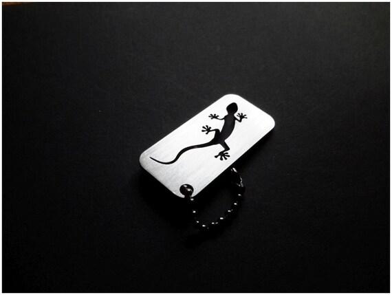 Audi Quattro Gecko Keychain key tag