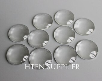 16mm Round Clear Glass Cabochons,16MM Flat Back Glass Covers,16mmMagnify Glass Dome,Top quality