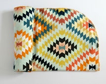 Jersey swaddle blanket - Unisex baby blanket -  aztec fabric -  - Summer blanket for baby -  blanket for newborn -  baby shower gift